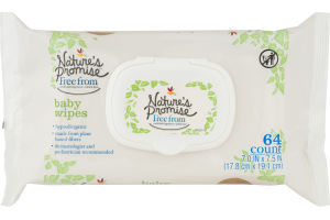 Nature's Promise Baby Wipes - 64 CT