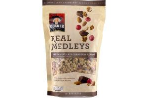 Quaker Real Medleys Dark Chocolate Cranberry Almond Granola