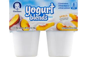 Gerber Yogurt Blends Snack Peach / Sitter - 4 PK