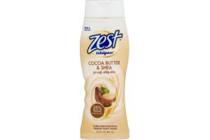 Zest Indulgence Creamy Body Wash Cocoa Butter & Shea