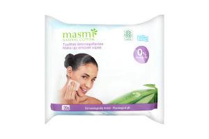 Серветки вологі Masmi для видалення макіяжу 20шт х10