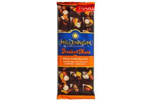 Шоколад Millennium Fruits&Nuts мол.миндаль, фундук, курага, изюм 140г