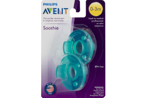 Philips Avent Pacifier Soothie (0-3m) - 2 CT