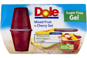 Dole Mixed Fruit in Cherry Gel - 4 CT