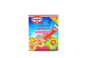 Карандаши Dr.Oetker сахарные д/рисование 4цвета к/у 76г