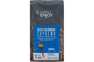 Simply Enjoy Ground Coffee Decaf Colombian Supremo