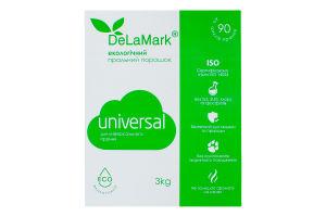 Порошок стиральный концентрированный бесфосфатный Universal Eco DeLaMark 3кг