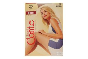 Колготки женские Conte Solo 20den 5-XL natural