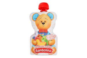Пюре для дітей від 4міс Персик-яблуко Bambolina д/п 90г