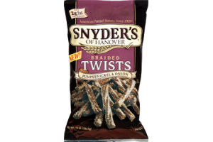Snyder's of Hanover Pumpernickel & Onion Braided Twists Pretzels