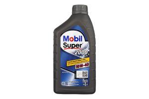 Олива моторна напівсинтетична 10W-40 2000 Mobil Super 1л