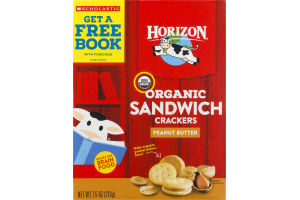 Horizon Organic Sandwich Crackers Peanut Butter