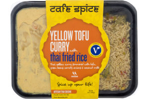 Cafe Spice Yellow Tofu Curry with Thai Fried Rice