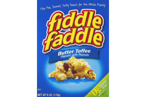 Fiddle Faddle Butter Toffee Popcorn With Peanuts