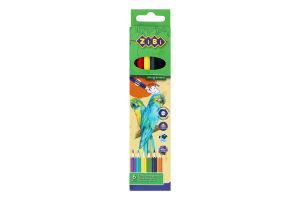 Набір олівців кольорових 6 кольорів №ZB.2409 Zibi 1шт