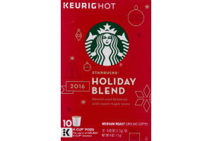 Starbucks Keurig Hot Holiday Blend K-Cup Pods - 10 CT