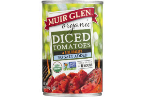 Muir Glen Organic Diced Tomatoes Fire Roasted No Salt Added