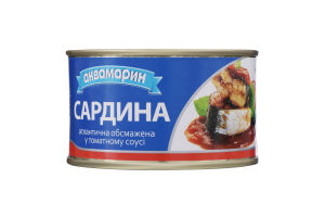 Сардина атлантична обсмажена в томатному соусі Аквамарин з/б 230г