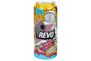 Напиток слабоалкогольный 0.5л 8-8.5% энергетический сильногазированный Limited Edition Revo ж/б
