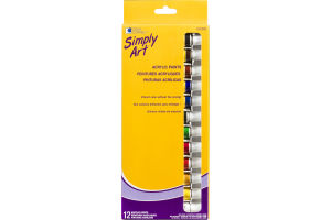 Loew Cornell Simply Art Acrylic Paints - 12 CT