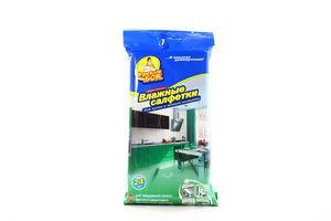 Серветки Фрекен Бок вологі для кухні та ванної 24шт