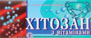 Добавка дієтична Хітозан з вітамінами Elit-Pharm 40шт