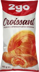 Круасан з апельсиновою начинкою 2go м/у 60г