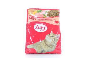 Корм сухой для взрослых котов Нежный кролик Мяу! м/у 400г