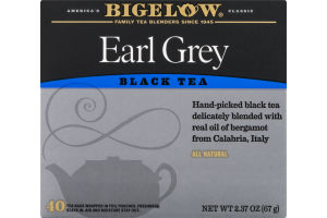 Bigelow Black Tea Early Grey - 40 CT