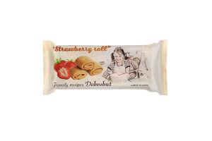 Печиво здобне Strawberry roll Dobrobut м/у 0.15кг