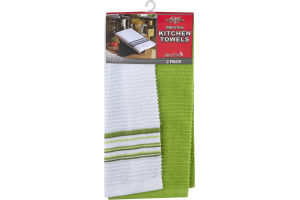 "Royal Crest Ribbed Terry Kitchen Towels 15""x26"" - 2 CT"