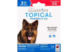Guardian Topical Flea & Tick Prevention for Dogs over 33 Lbs