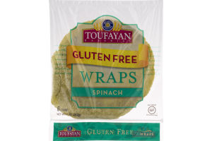 Toufayan Bakeries Gluten Free Wraps Spinach - 6 CT
