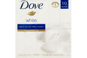 Dove Beauty Bar With Deep Moisture White - 10 CT