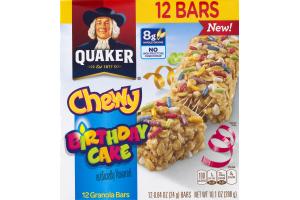 Quaker Chewy Birthday Cake Granola Bars - 12 CT