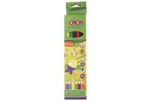 Олівці кольорові №ZB.2430 Zibi 6 кольор