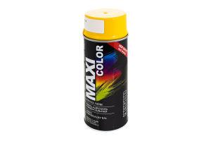 Емаль-аерозоль універсальна жовта №RAL1021 Maxi Color 400мл