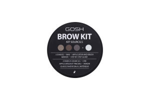 Пудра для бровей Brow Kit №001 Gosh 0.5г