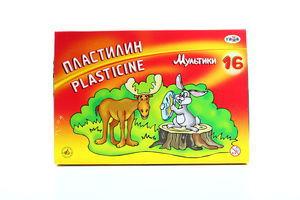 Пластилін Гамма 16 кольорів зі стеком
