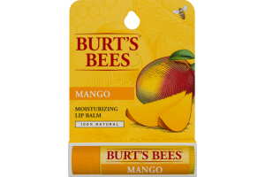 Burt's Bees 100% Natural Moisturizing Lip Balm, Mango, 1 Tube in Blister Box