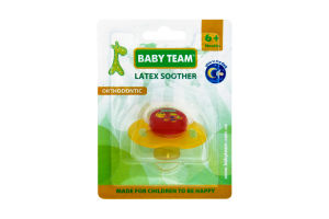 Пустушка Baby Team ортодонтична латексна 6+ 3204
