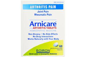 Boiron Arnicare Arthritis Pain Homeopathic Medicine Quick-Dissolving Tablets - 60 CT