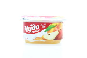 Сырок 4,2% Персик-груша Чудо 115г