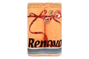 Бумага туалетная Renova Red Label оранжевая