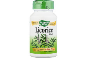 Nature's Way Licorice Root 450mg Capsules - 100 CT