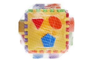 Іграшка-сортер для дітей від 12міс №39781 Educational cube Tigres 1шт