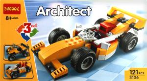 Іграшка Architect конструктор Машинка 3в1 арт.3106 х6
