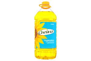 Олія соняшникова рафінована Традиційна Олейна п/пл 5л