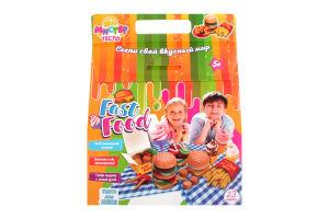 Набір тіста для ліплення для дітей від 3-х років №71211 Містер тісто Fast food Мир Лео 1шт