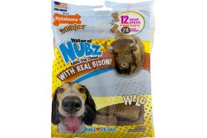 Nylabone Edibles Natural Nubz Edible Dog Chews With Real Bison